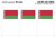 Lindner 684 Flaggen-Sticker: Weißrussland, 24 x 38 mm