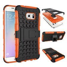 HYBRID COQUE 2 Pièces Extérieur Orange ETUI Pour Samsung Galaxy S7 Edge G935