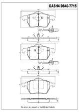 Disc Brake Pad Set-Sedan Front Dash 4 Brake CD840