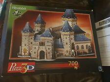 PUZZ 3D : MEDIEVAL CASTLE - 2003 WREBBIT 704 piece 3D puzzle, foam backed pieces