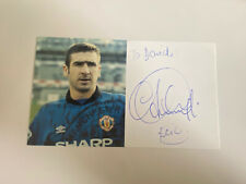 More details for eric cantona hand signed autograph manchester united club card