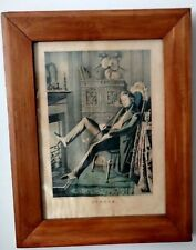 "*Authentic Early Nathaniel Currier 1845 Lithograph - ""Single"" - Rare Edition"