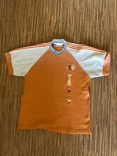 Adidas Olympic Games France 90s 80s Shirt Tee Vintage Rare Orange Size- Large