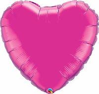 Qualatex solide couleur en forme de cœur feuille Ballons Fête Décoration { AIR /