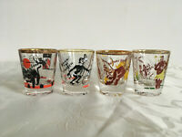 Vintage 1950s Whiskey Shot Glass Rumpus Set Bottoms Up Good Luck Down the Hatch