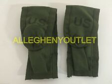 Lot 2 US Military Army 9MM Mag Magazine Ammo Pouch w/ Alice Clips OD Green NEW