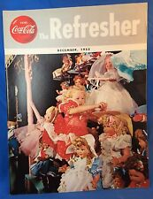 1955 December COCA COLA Refresher Magazine GRAND PRIX SENECA CUP RACE Christmas
