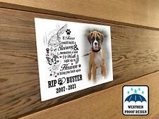 Dog memorial plaque, Bench plaque, Garden grave marker, Personalised design.