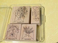 Send a Celebration~ Stampin Up! 2006, Flowers, Candles, Envelope, Set of 4