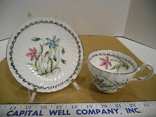 EB Foley English Bone China Crocus IXIA  Tea Cup & Saucer Set - EUC