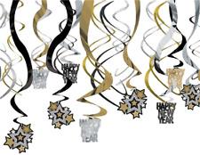 Nuevo Año Víspera Colgante Feliz Año Nuevo Espiral Fiesta Celebración Decoración