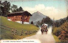 BR36483 Paysage Suisse Voiture de Poste chariot       Switzerland