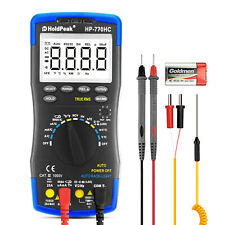 Digital Multimeter Auto Range Ac Dc Volt Current True Rms Resistance Cap Temp