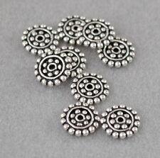 925 Silber Zwischenteile, Spacer Perlen, Altsilber, DIY Vintage Schmuck, Scheibe