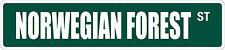 """*Aluminum* Norwegian Forest 4"""" x 18"""" Metal Novelty Street Sign  SS 2758"""