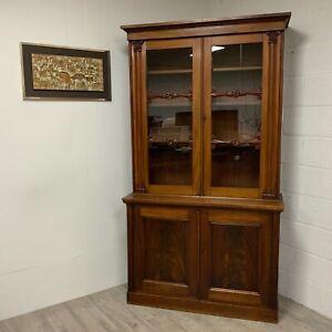 Large Antique Bookcase William IV Kitchen Larder Cupboard