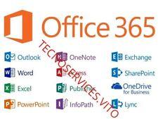Microsoft Office 365 2016 ABBONAMENTO A VITA per 5 dispositivi PC/MAC/ANDROID