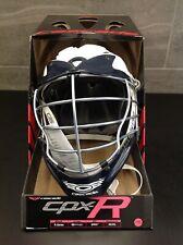 Cascade Cpx-R Lacrosse Helmet White Shell, Navy Visor, Navy chin & Chrome Mask