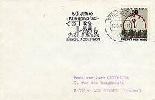 Z375 enveloppe thème Chien oblitération 50 Jahre Klingenpfad RUND UM SOLINGEN 85