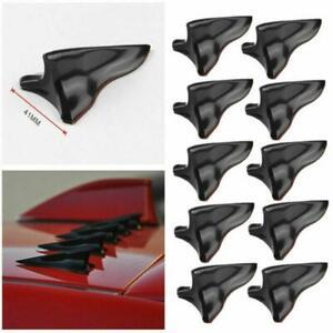 Universal Car Shark Fin Wing Roof Spoiler Kit Vortex Generat Jet Style 10 Pcs PP