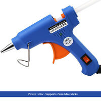 Mini Hot Melt Glue Gun Craft Small Electric 20w for Kids 7mm UK Plug