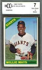 Willie Mays Card 1966 Topps #1 San Francisco Giants BGS BCCG 7