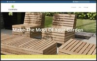 GARDEN FURNITURE Dropshipping Website  £926 A SALE|FREE Domain| Hosting|Traffic