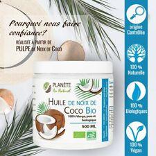 Huile de Coco Biologique Vegan Cuisine Santé Beauté Cosmétique