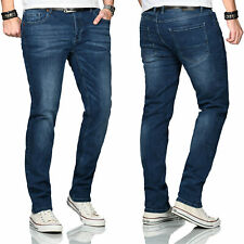 Maurelio Modriano Designer Herren Jeans Hose Basic Stretch Regular Slim MM003