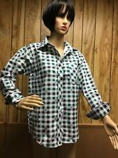 Ladies long sleeve casual button front shirt size S