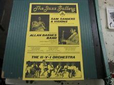 THE JAZZ GALLERY-SAM SANDERS & VISION/LENI SINCLAIR-'80