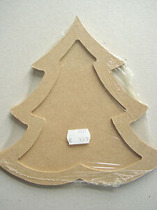 MDF OrnamentTannenbaum 2-teilig, Weihnachtsbaumanhänger ca. 19 cm
