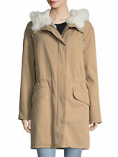 NWT Yves Salomon Shearling Trimmed Cotton Parka $2460