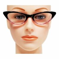 NWT Cute Women Cat Eye Reading Glasses Vintage Spring Hinges Frame Readers