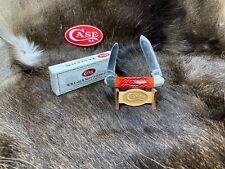1989 Case Centennial Canoe Knife Red Bone Handles Mint In Case - SN#: 022 - 70A