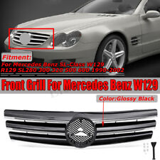 For Mercedes R129 1992-2000 SL-CLASS 3 FIN GRILLE SL500 SL300 FRONT SPORTS GRILL
