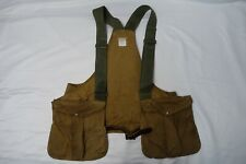 VINTAGE FILSON OIL FINISH TIN CLOTH GAME BAG STYLE #30 VEST SIZE SUPER
