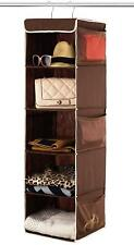 5 Shelf Hanging Closet Organizer Space Saver, Roomy Breathable Hanging Shelves