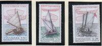 Denmark Sc 1052-54 1996 Wooden Dinghies stamp set mint NH