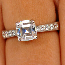 14KT Solid White Gold Cushion Shape 2.10CT Solitaire Ravishing Engagement Ring