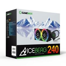 XMAS GameMax ICEBERG 240 All-in-one Watercooler 240mm for Intel and AMD CPUs F46