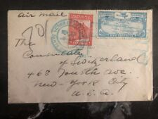 1920s Dominican Republic Diplomatic Cover To Swiss Consulate In New York Usa