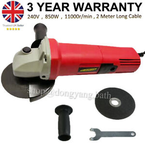 850W Electric Angle Grinder 115mm 4.5'' Heavy Duty Cutting Grinding 240V UK Plug