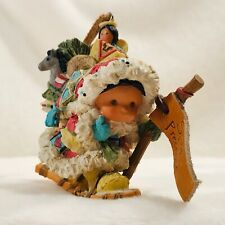 2000 Enesco Friends Of The Feather Spirit Presence Santa Carrying Bundle Of Toys