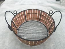 8� X 3� Wired Wicker Basket With Handles