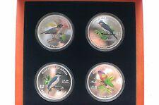 2007 Birds Of Fiji Fine Silver Proof .999 New Zealand Mint 4 Coins 2$