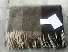 Elvang Denmark Alpaca / Wool Throw – Taupe / Cocoa Check – New