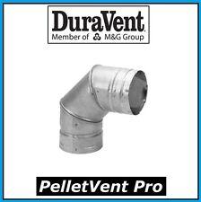 "DURAVENT PELLETVENT PRO Pipe 3"" Diameter 90 Degree Elbow #3PVP-E90 NEW!"