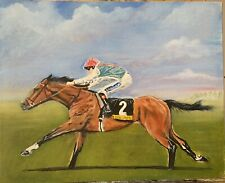 Original Horse Racing Painting Oil On Canvas