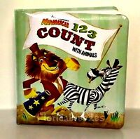 123 COUNT with ANIMALS MADAGASCAR , Book PADDED BOOK Baby Pre-K NEW!